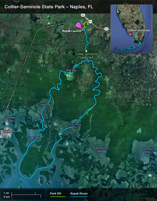 Collier Seminole State Park Kayak Route