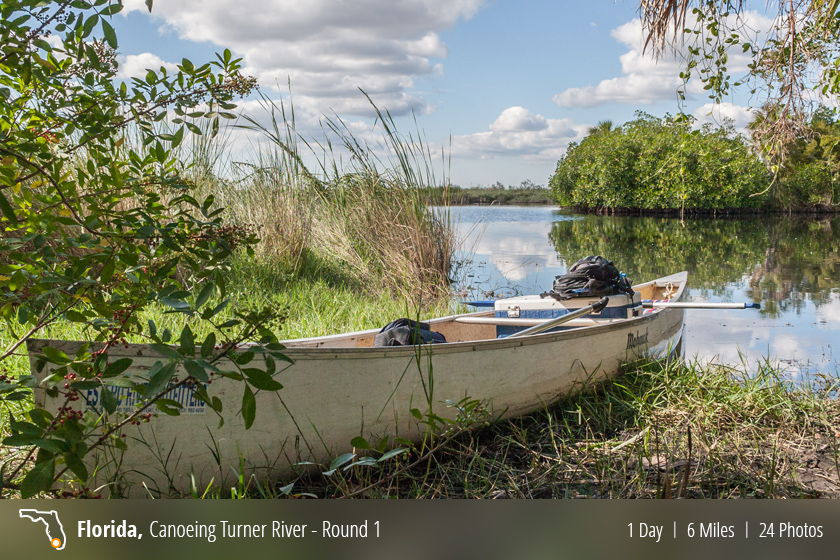 Canoeing down the Turner River in the Florida Everglades
