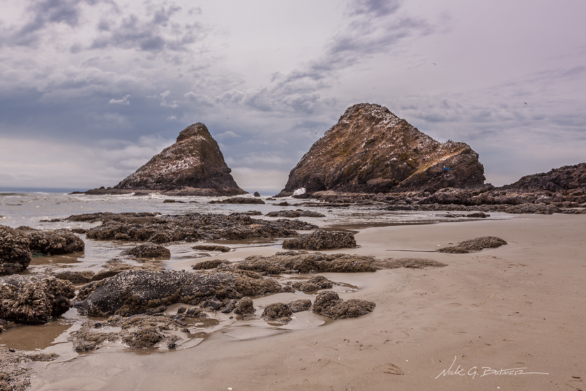 Exploring the beach at Devil's Elbow Cove, Oregon