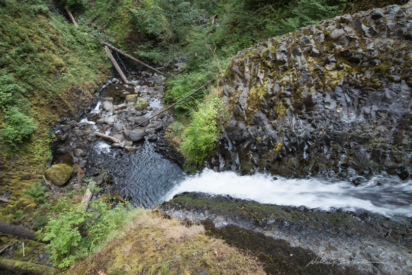 Hiking Triple Falls along the Columbia River Gorge in Oregon