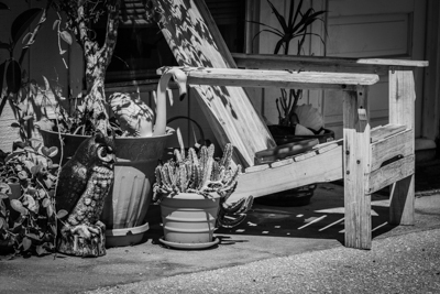 Back Streets of Downtown Naples, FL (Black & White Edition)