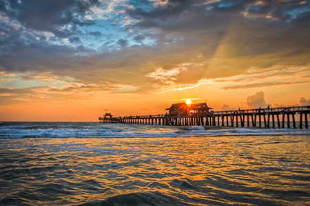 Florida Coast – Sunset at Naples Beach